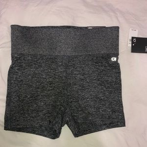 High rise jersey yoga shorts